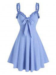 Bowknot Ruffles Fit And Flare Dress -