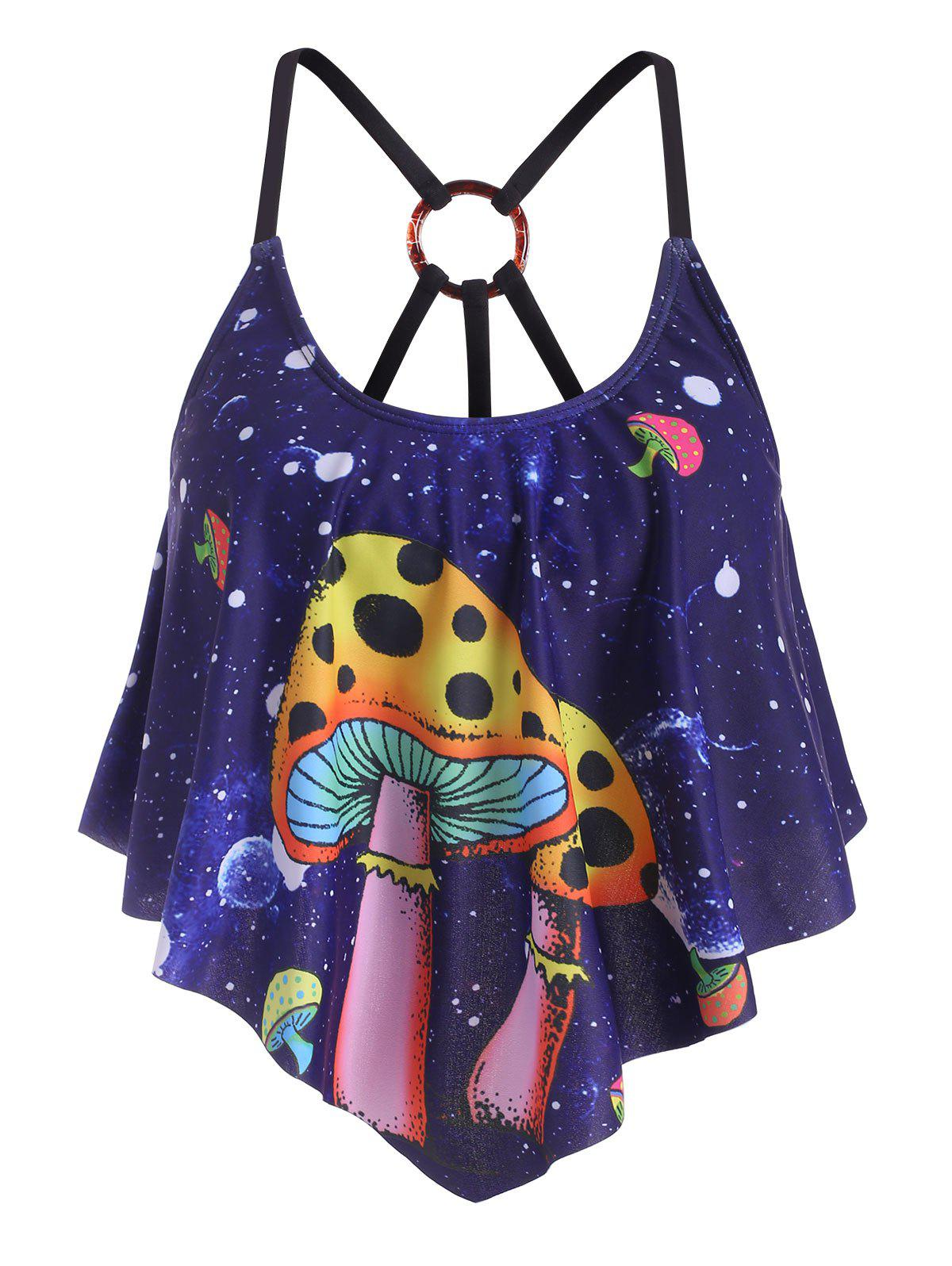 Outfit Mushroom Planet Flounces Strappy O-ring Swim Top