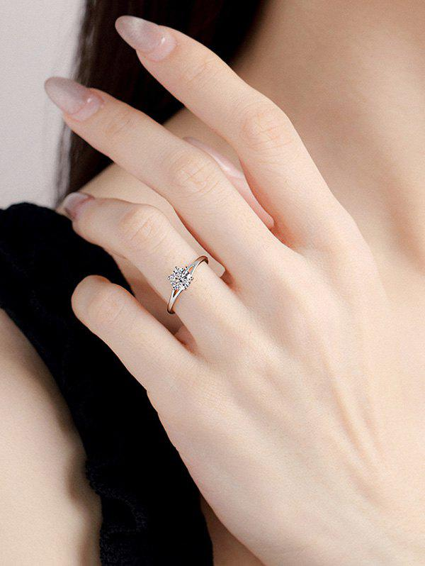 Sale Zircon Inlaid Prong Set Ring