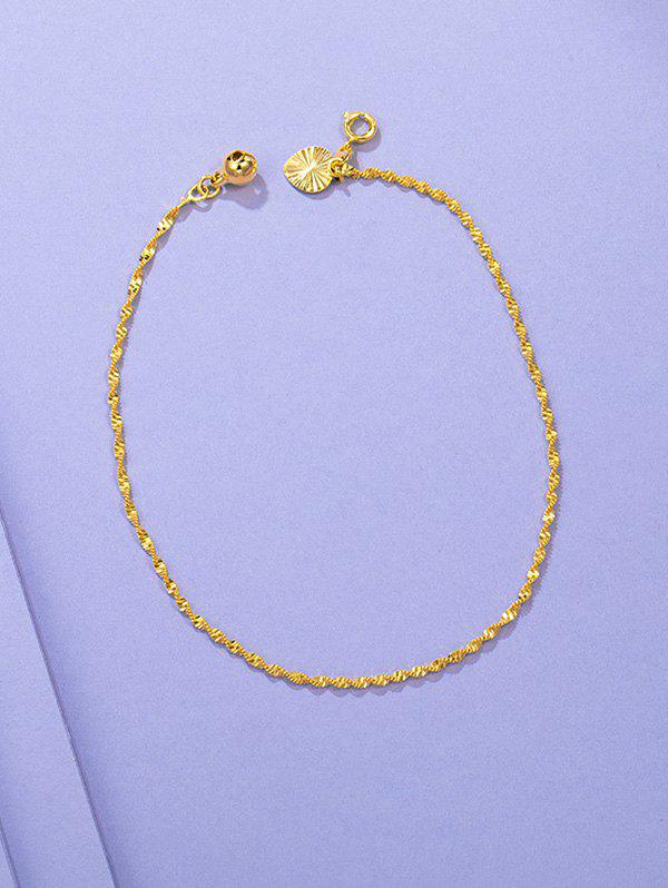 Cheap Twist Chain Bell Waterdrop Charm Anklet