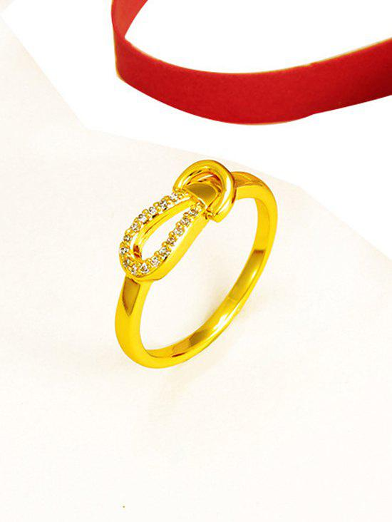Outfit Zircon Inlaid Knot Finger Ring