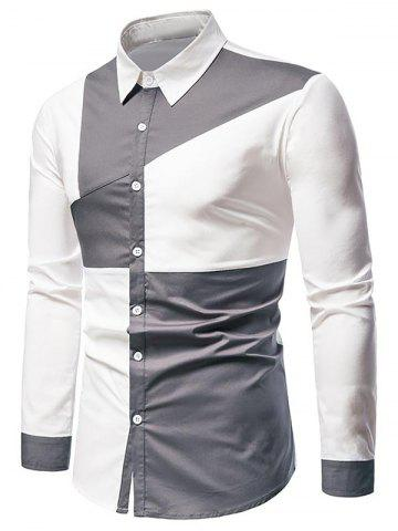 Button Up Long Sleeve Contrast Shirt