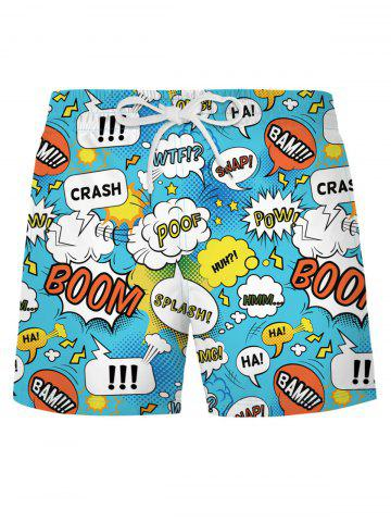 Shorts de Playa con Estampado de Pop - DAY SKY BLUE - L