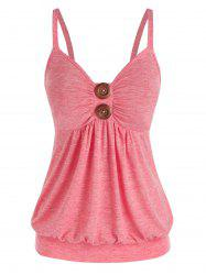 Sweetheart Neck Ruched Tank Top -