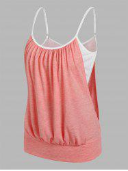 Heathered Blouson Faux Twinset Cami Top -