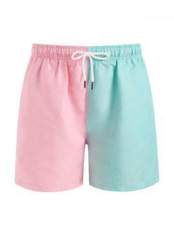 Color Blocking Panel Shorts