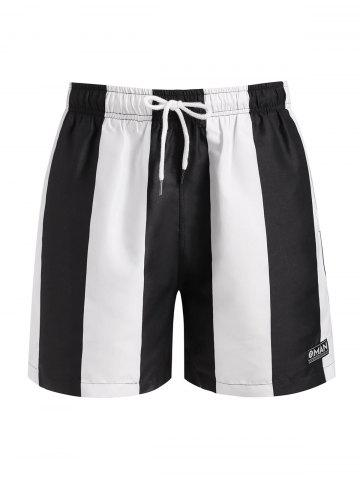 Contrast Striped Print Shorts