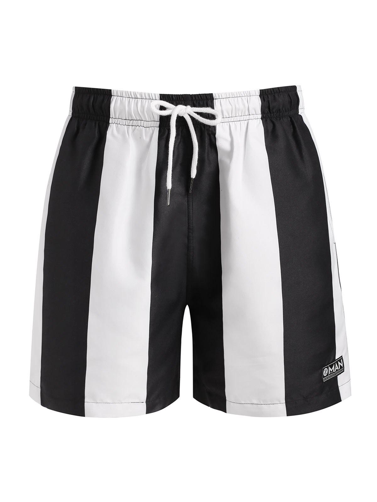 New Contrast Striped Print Shorts