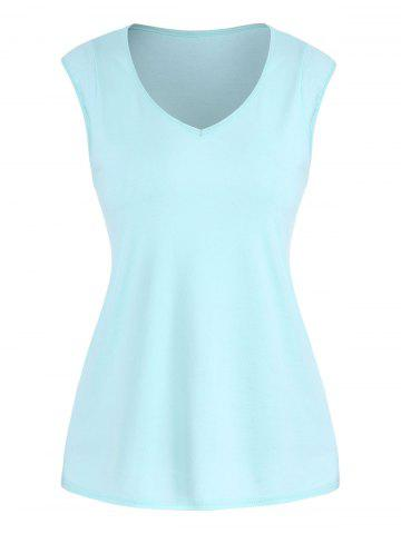 V Neck Casual Solid Tank Top