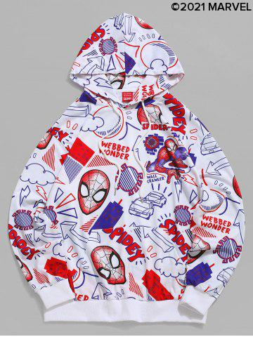 Marvel Spider-Man Cartoon Print Casual Pullover Hoodie
