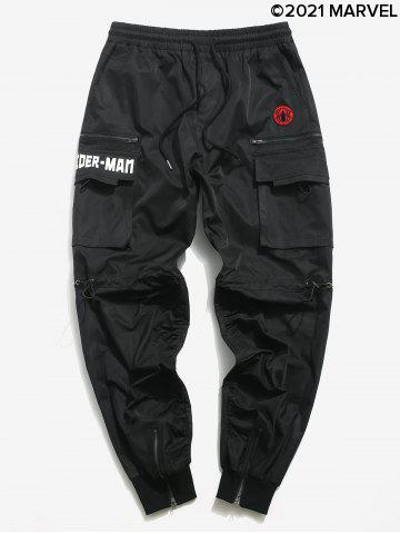 Marvel Spider-Man Embroidery Cargo Pants