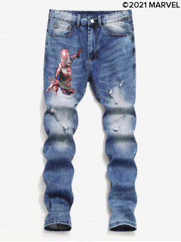 Marvel Spider-Man Star Ripped Jeans
