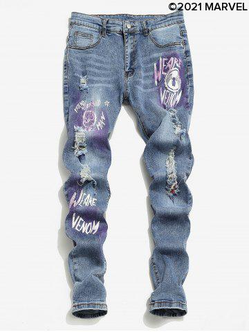 Marvel Spider-Man Graphic Ripped Jeans