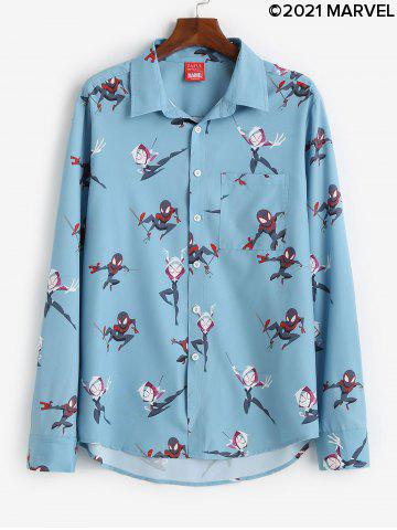 Marvel Spider-Man Spider-Girl Print Button Up Shirt