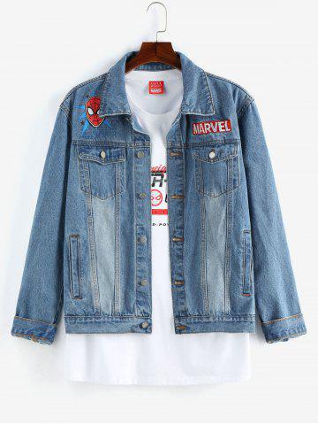 Marvel Spider-Man Print Jean Jacket