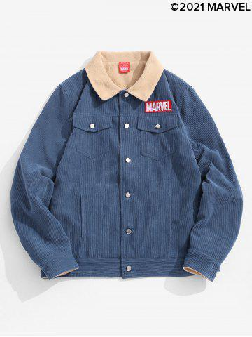 Marvel Spider-Man Patch Corduroy Fleece Jacket
