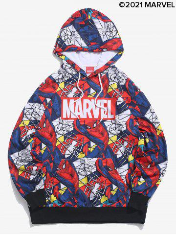 Marvel Spider-Man Figure Allover Pattern Hoodie