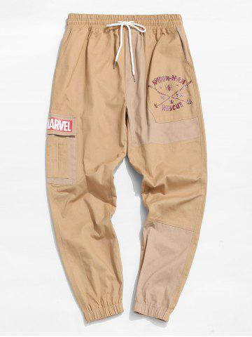 Marvel Spider-Man To The Rescue Pattern Cargo Pants - CAMEL BROWN - 2XL