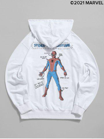 Marvel Spider-Man Graphic Print Front Pocket Drawstring Hoodie