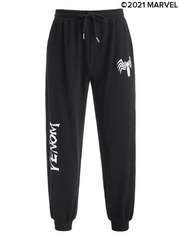 Marvel Spider-Man Venom Print Drawstring Sweatpants
