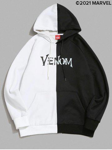 Marvel Spider-Man Venom Printed Contrast Fleece Hoodie