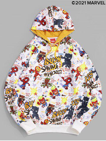 Marvel Spider-Man Letter Graphic Printed Pullover Hoodie