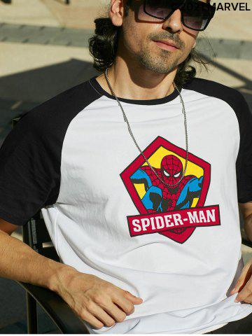 Marvel Spider-Man Letter Character Printing Short Sleeves T-shirt