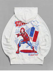 Sweat à Capuche Marvel Spider-Man Graphique Imprimé - Blanc S