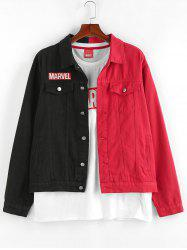 Marvel Spider-Man Embroidery Colorblock Jean Jacket -