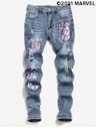 Marvel Spider-Man Graphic Ripped Jeans -