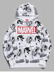 Sweat à Capuche Marvel Spider-Man Venom Imprimé - Blanc 2XL