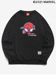 Marvel Spider-Man Spider-Sense Is Tingling Print Sweatshirt -