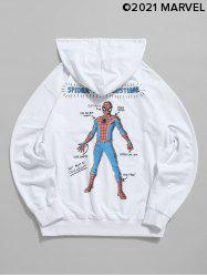 Marvel Spider-Man Graphic Print Front Pocket Drawstring Hoodie -