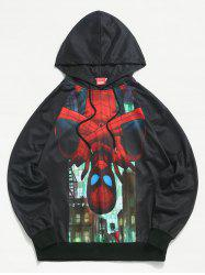 Sweat à Capuche Marvel Spider-Man Imprimé à Cordon - Noir L