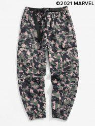 Marvel Spider-Man Camouflage Print Tapered Cargo Pants -