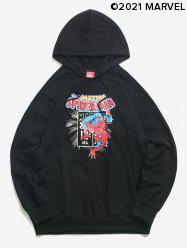 Marvel Spider-Man Front Pocket Graphic Print Hoodie -