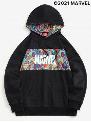 Marvel Spider-Man Paisley Print Kangaroo Pocket Fleece Hoodie -