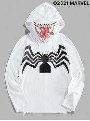 Marvel Spider-Man Venom Print Double Collar Mask Hoodie -