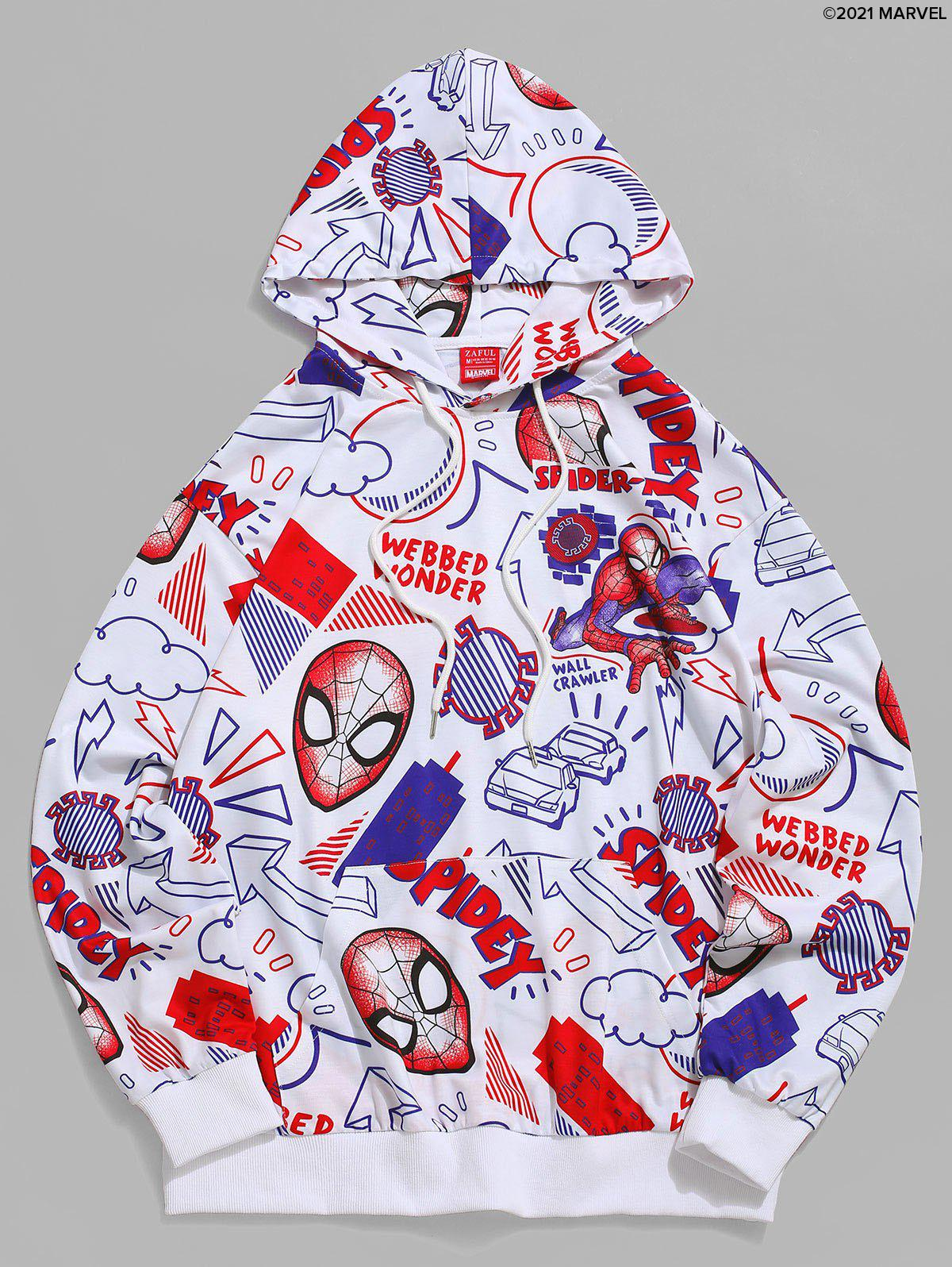 New Marvel Spider-Man Cartoon Print Casual Pullover Hoodie