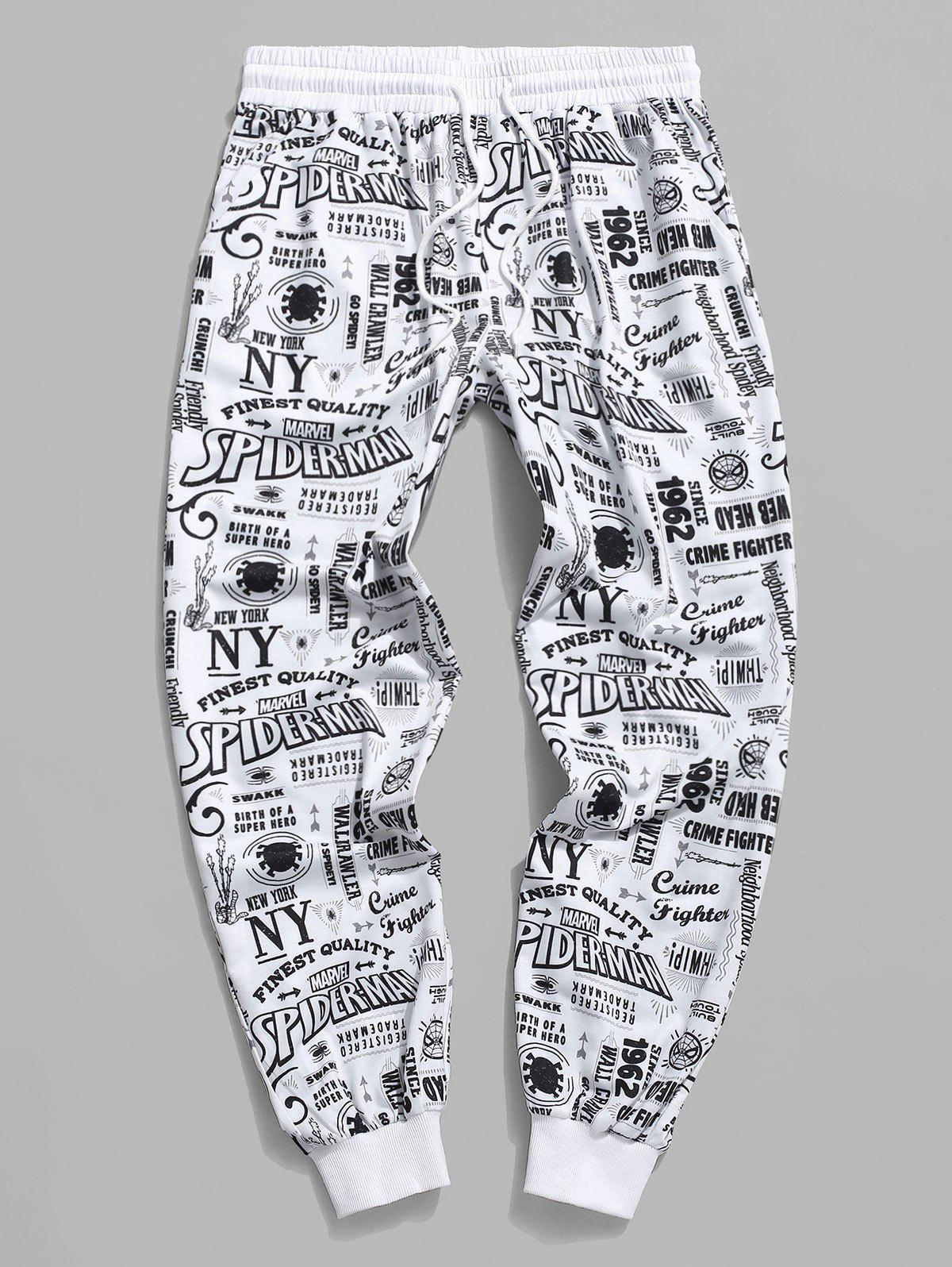 Best Marvel Spider-Man Graphic Allover Print Jogger Sweatpants
