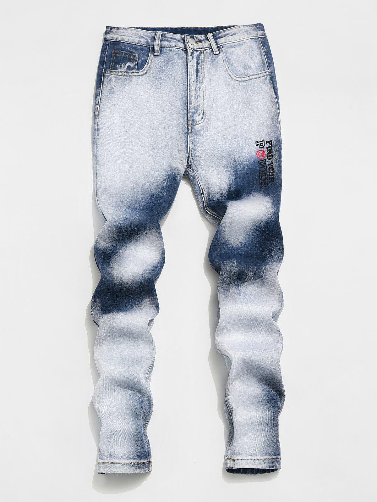 Trendy Marvel Spider-Man Faded Wash Jeans