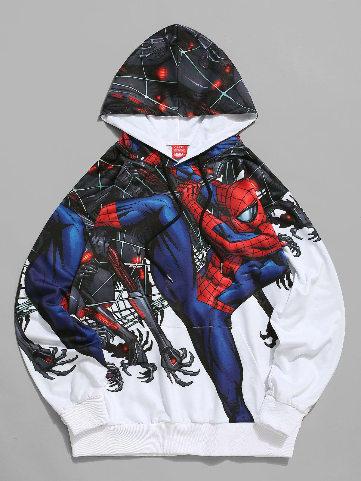 Sweat à Capuche Graphique Marvel Spider-Man Blanc S