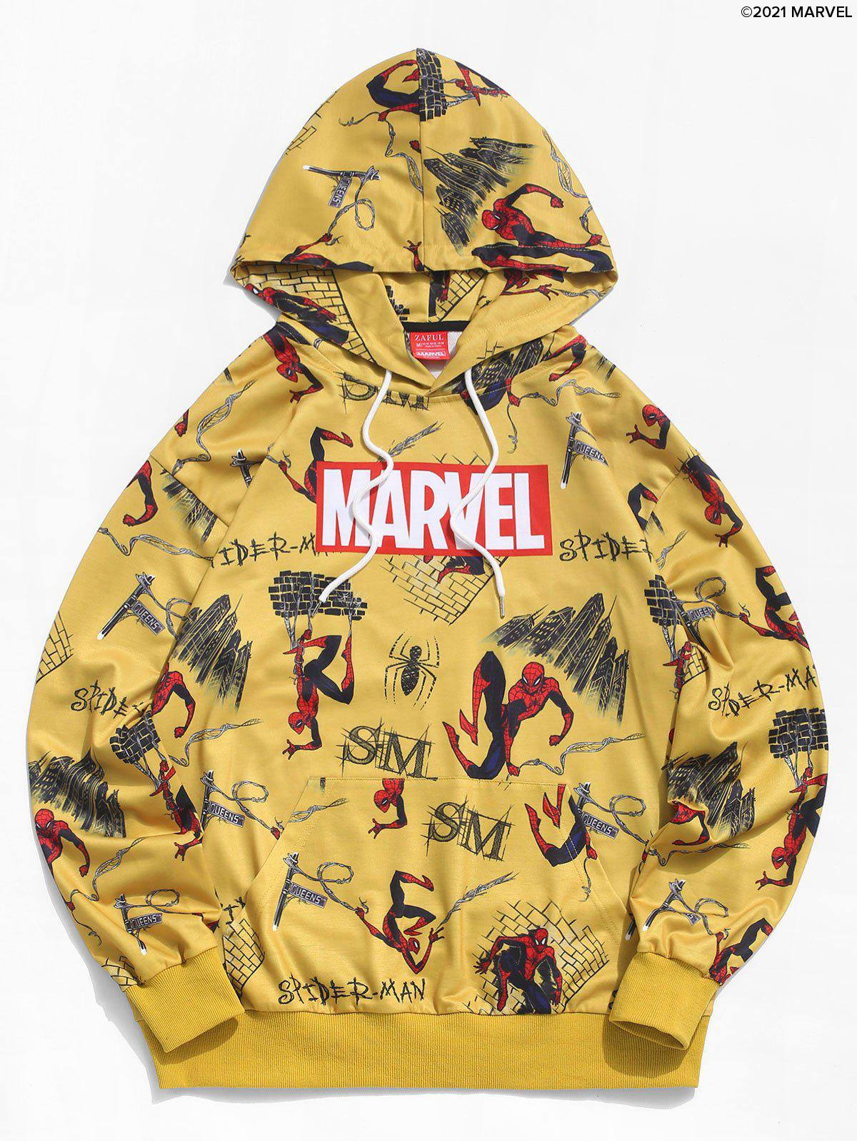 Buy Marvel Spider-Man Comic Graphic Casual Hoodie