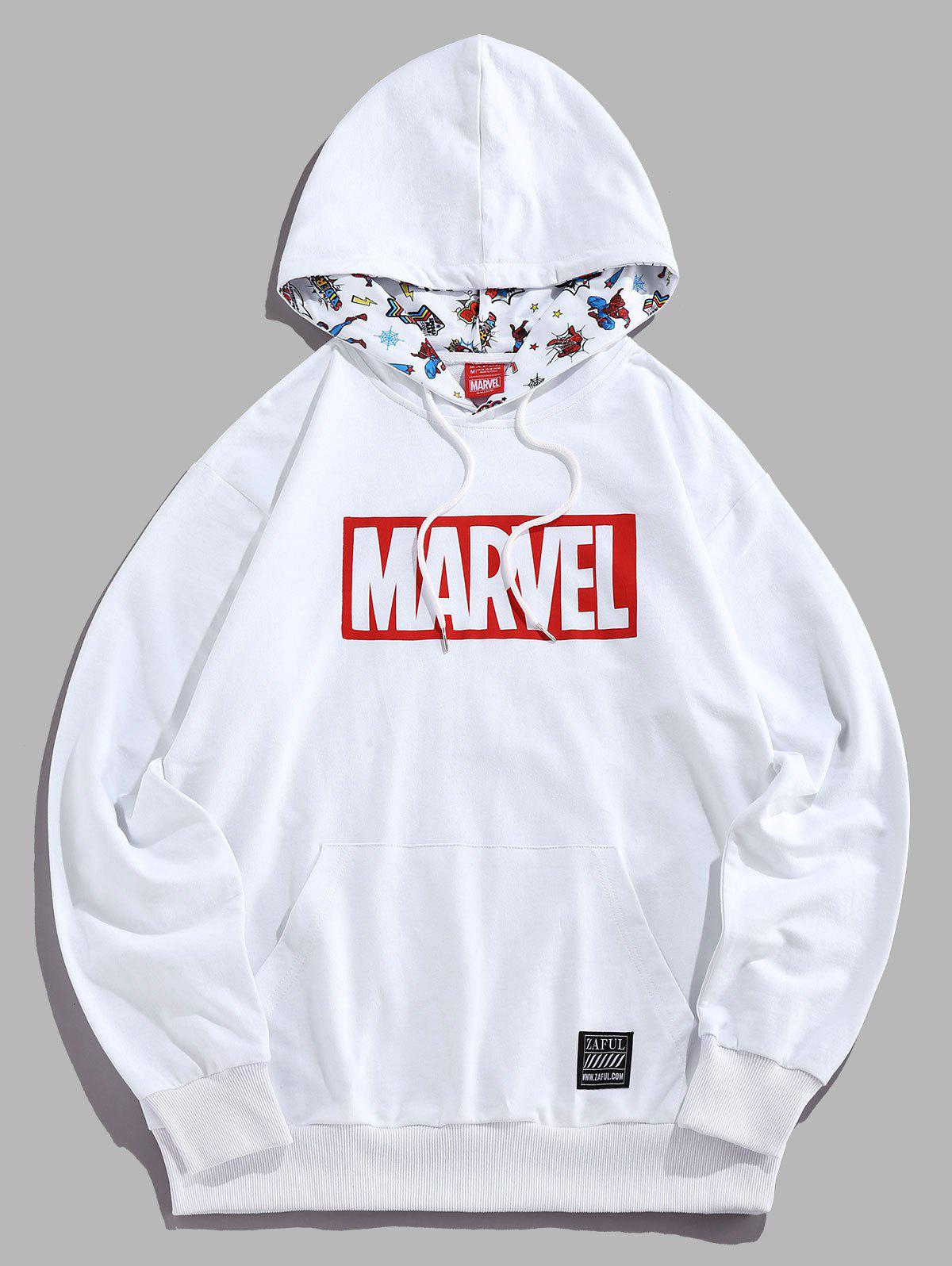 Sweat à Capuche Marvel Spider-Man Imprimé Blanc L