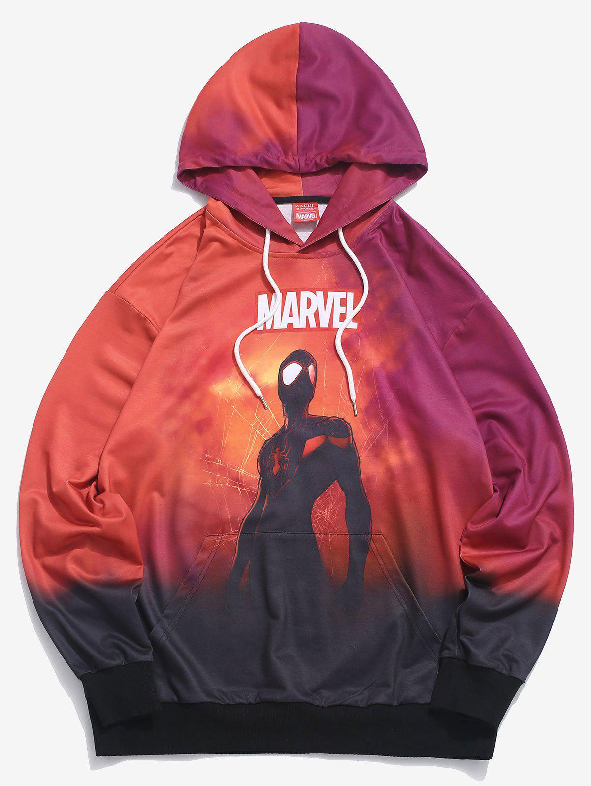 Sweat à Capuche Marvel Spider-Man Teinté Multi S