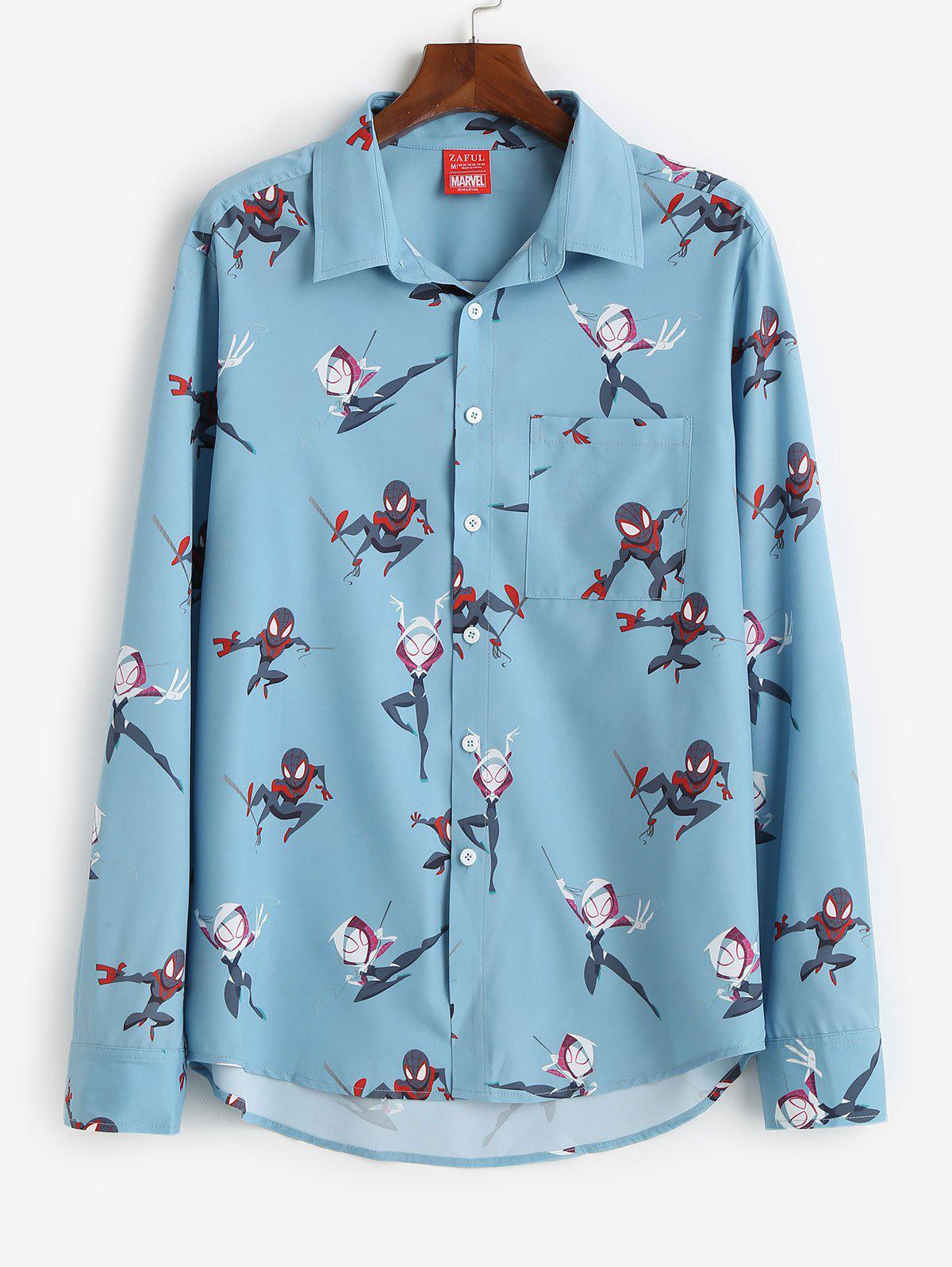 Outfit Marvel Spider-Man Spider-Girl Print Button Up Shirt