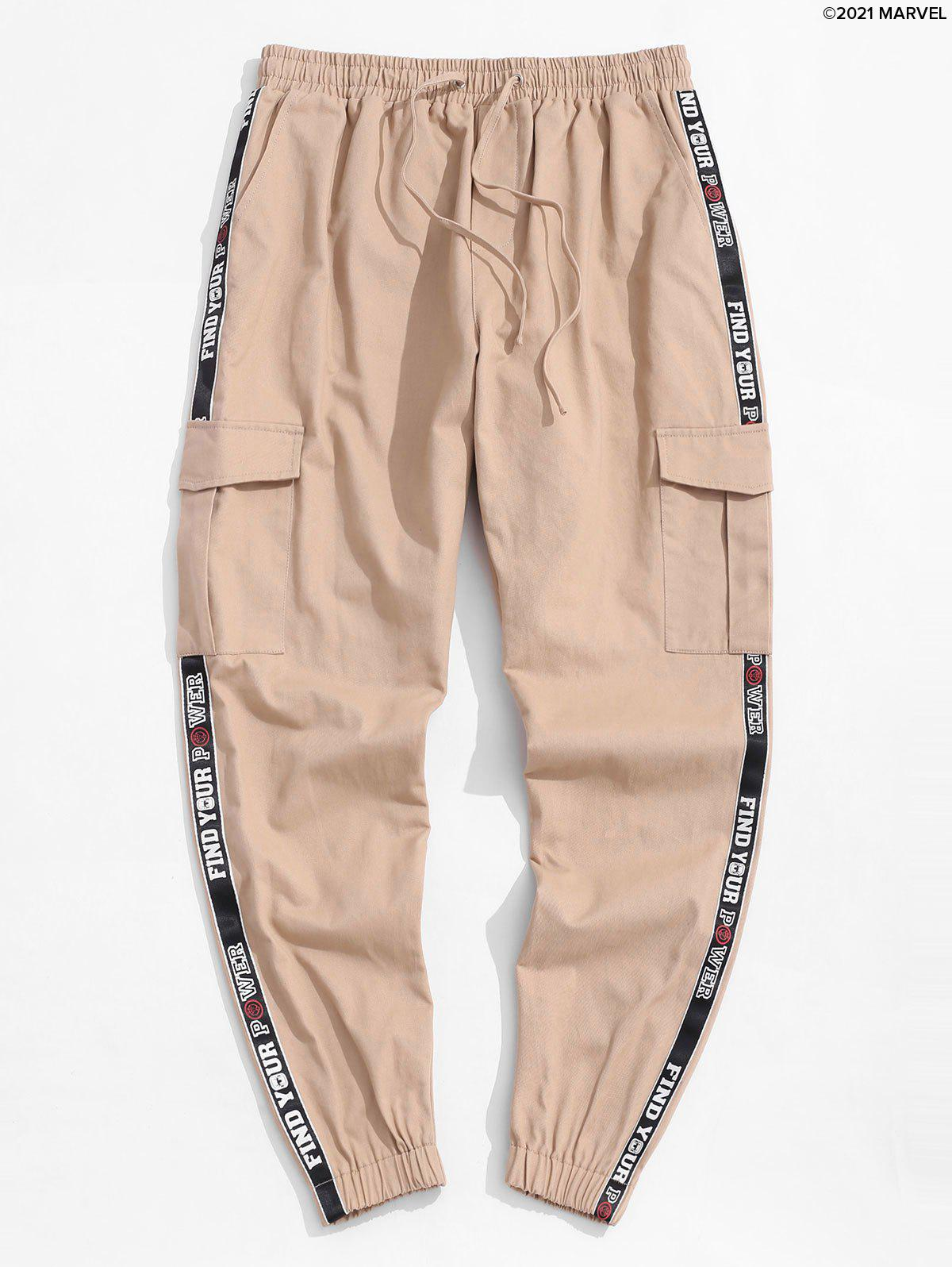 Fashion Marvel Spider-Man Letter Patched Cargo Pants