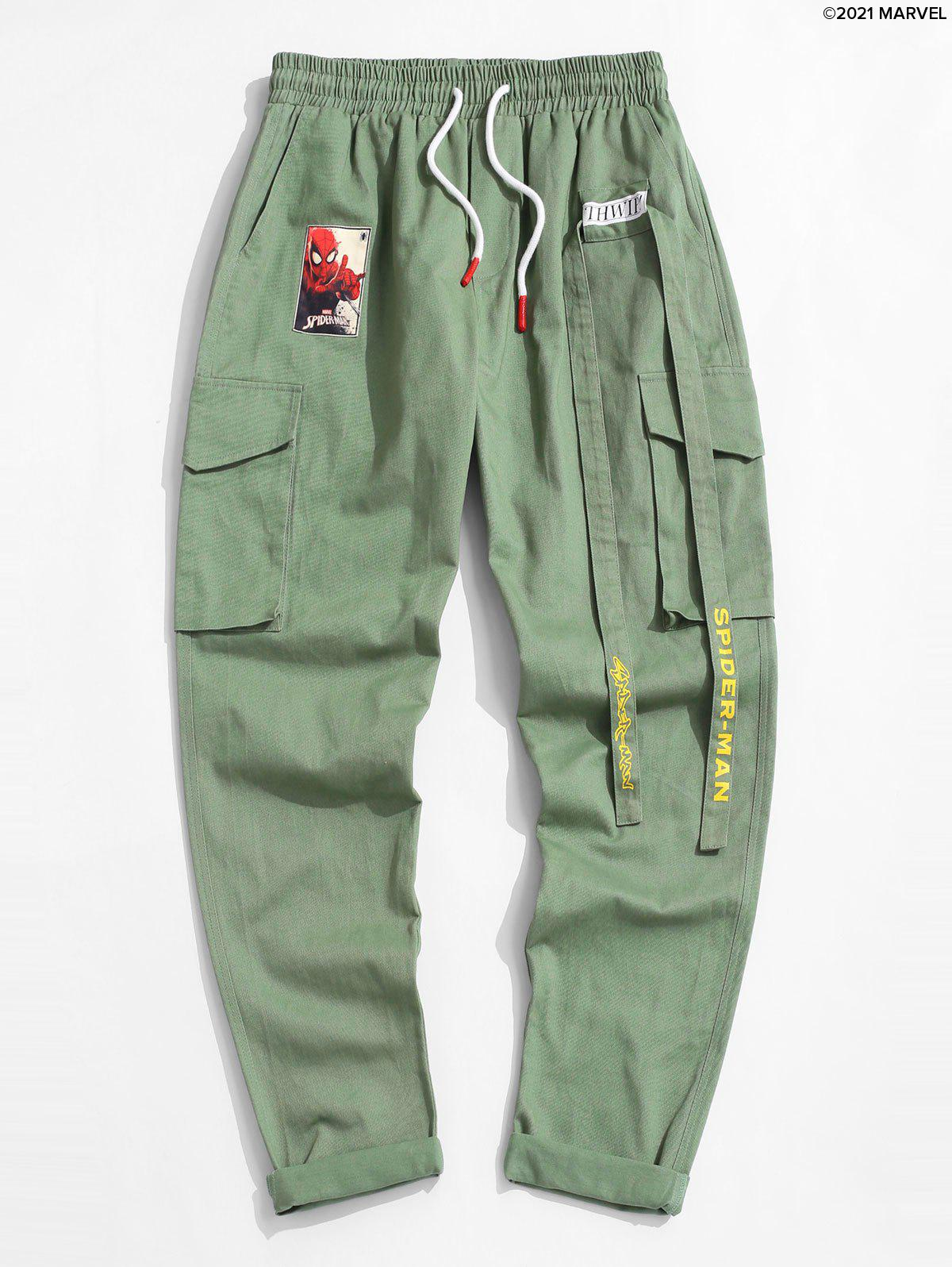 Trendy Marvel Spider-Man Patched Cargo Pants