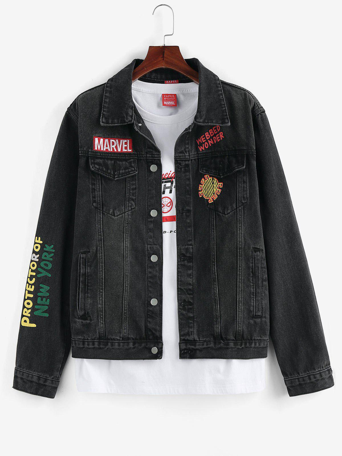 Outfits Marvel Spider-Man Graphic Print Jean Jacket
