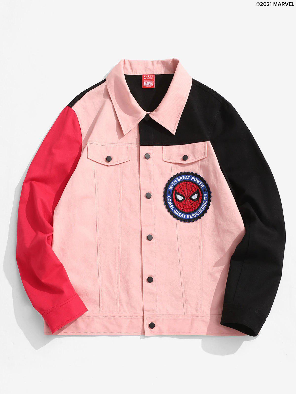 Outfit Marvel Spider-Man Patched Contrast Shirt Jacket
